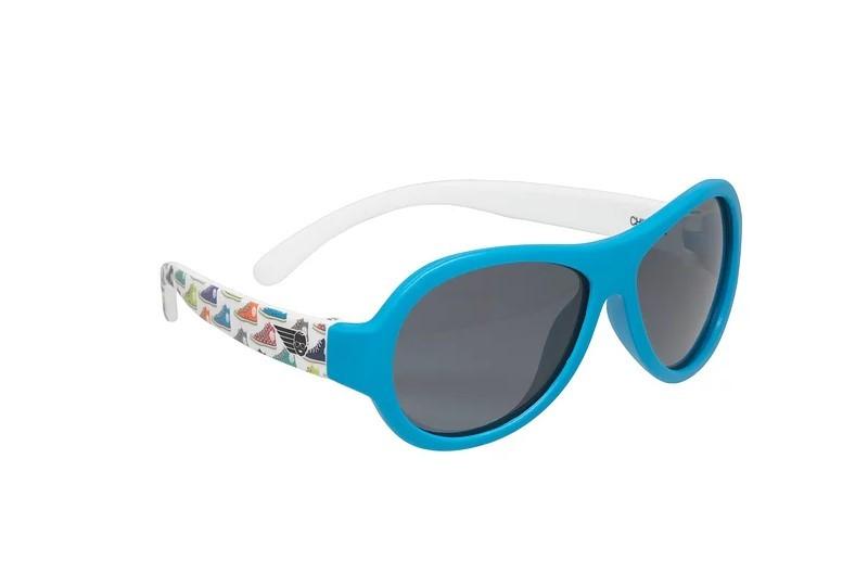 Okulary przeciwsłoneczne dla dzieci z polaryzacją Babiators niebieskie trampki