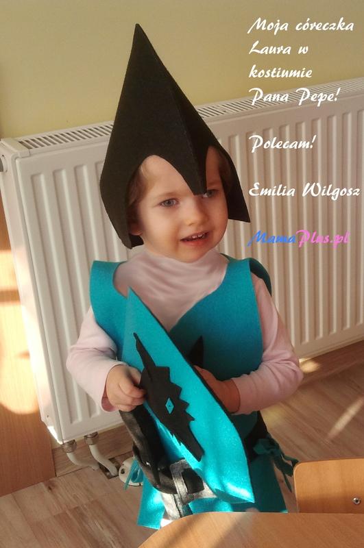 4809fed84b Filcowy kostium Rycerz Wilczek Pan Pepe - atramentowy w Sklep dla ...